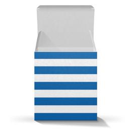 """Коробка для кружек """"Моряк"""" - полоска, динамо, полоса, сине-белый"""