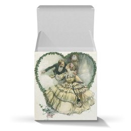 """Коробка для кружек """"Винтажные влюбленные"""" - сердце, любовь, 14 февраля, valentine's day, день влюбленных"""