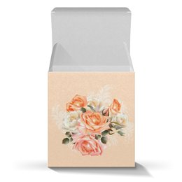 """Коробка для кружек """"Чайная роза"""" - розы, цветы"""