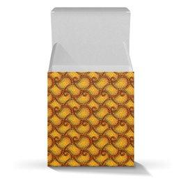 """Коробка для кружек """"Солнечный узор пейсли для подарка"""" - праздник, узор, подарок, индийский, пейсли"""