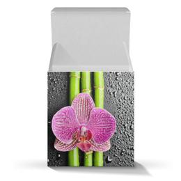 """Коробка для кружек """"Черные капли Начальнице"""" - 8 марта, женщине, орхидея, капли"""