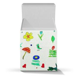 """Коробка для кружек """"Подарочная Финская тема"""" - листики, сердечки, птички, цветочки, ягодки"""