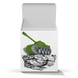 """Коробка для кружек """"С 23 февраля!"""" - 23 февраля, день защитника отечества, танк, февраль, прадник"""