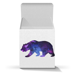"Подарочная коробка-куб ""Space animals"" - space, bear, медведь, космос, астрономия"