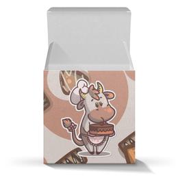 """Подарочная коробка-куб """"Mooood"""" - шоколад, корова, коровка, mooood"""