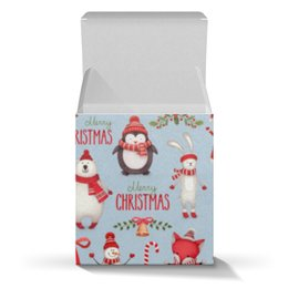 """Коробка для кружек """"Новый Год"""" - праздник, новый год, дед мороз, снеговик"""