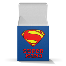 "Подарочная коробка-куб ""Супер Мама"" - мама, супермен, комиксы"