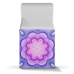 """Коробка для кружек """"Розово - синий узор гильош подарочный"""" - праздник, цветы, узор, подарок, гильош"""