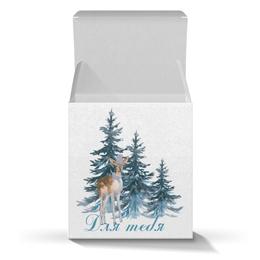 """Коробка для кружек """"Лесной житель"""" - животные, елка, новыйгод, олененок"""
