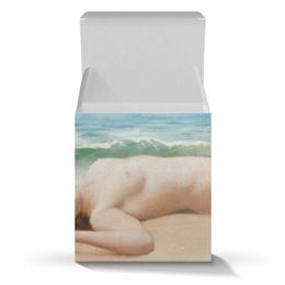 """Коробка для кружек """"Обнаженная на пляже (Джон Годвард)"""" - море, картина, пляж, живопись, годвард"""