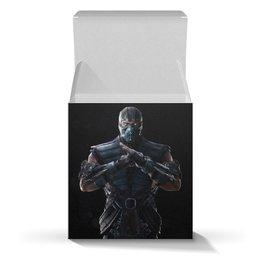 """Коробка для кружек """"Mortal Kombat X (Sub-Zero)"""" - компьютерная игра, mortal kombat, sub-zero, воин, игры"""
