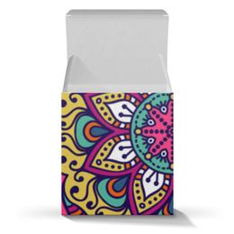 "Подарочная коробка-куб ""Мандала"" - абстрактный, мандала, символы, узор, орнамент"