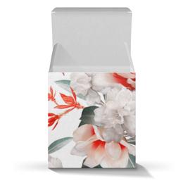 """Подарочная коробка-куб """"Цветы"""" - цветы"""