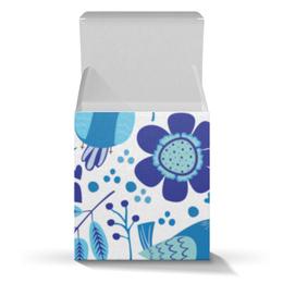 """Подарочная коробка-куб """"Весенняя"""" - цветы, весна, весенний, узор, птицы"""