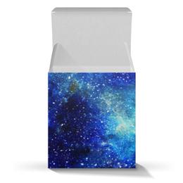 """Подарочная коробка-куб """"Космос (синий)"""" - space, космос, cosmos, galaxy, blue space"""
