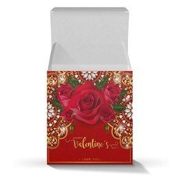 """Коробка для кружек """"День Св. Валентина"""" - любовь, цветы, розы, валентинка, день св валентина"""