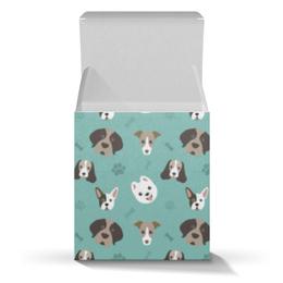 """Подарочная коробка-куб """"Собачки"""" - новый год, собака, пёс, 2018, год собаки"""