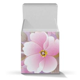 """Подарочная коробка-куб """"Летние цветы"""" - цветы, природа"""