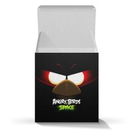 "Подарочная коробка-куб ""Space (Angry Birds)"" - игры, space, мультфильм, птица, angry birds"