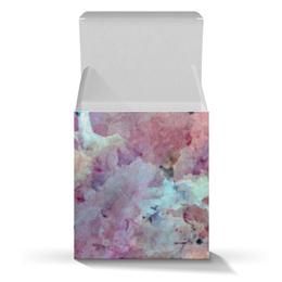 """Коробка для кружек """"Солнце,вода,цветы. Абстракция"""" - розовый, оригинальный, паттерн, фантазия, нежный"""