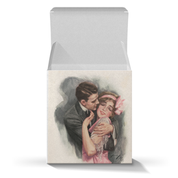 """Коробка для кружек """"День Святого Валентина"""" - настроение, арт, винтаж, 14фев, harrison fisher"""