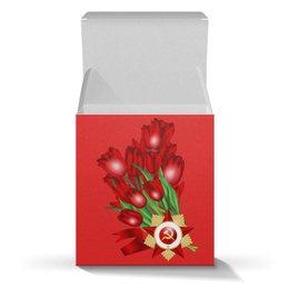 """Коробка для кружек """"9 мая"""" - праздник, цветы, 9 мая, день победы, орден"""