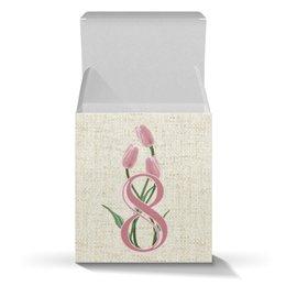 """Коробка для кружек """"Женский день"""" - арт, цветы, 8 марта, дружба, подарок"""