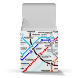 "Коробка для кружек ""Схема метро Москвы"" - карта, метро, москва"