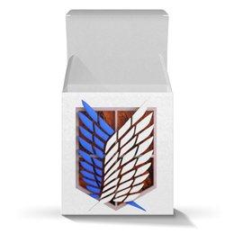 "Коробка для кружек ""Крылья свободы"" - аниме, атака титанов, титаны, крылья свободы, wings of freedom"