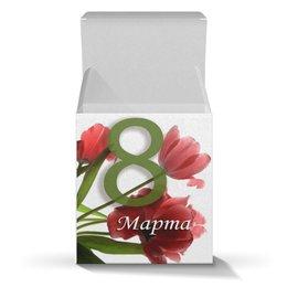 """Коробка для кружек """"на 8 Марта"""" - праздник, цветы, 8 марта, подарок, маме"""