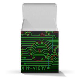 """Коробка для кружек """"Печатная плата"""" - технологии, электроника, микросхема, электрика, печатная плата"""
