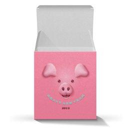 """Коробка для кружек """"Новый год"""" - новый год, свинья, 2019"""