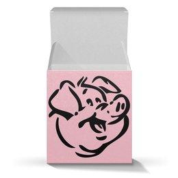 """Коробка для кружек """"год Свиньи 2019"""" - новый год, свинья, pig, год свиньи"""