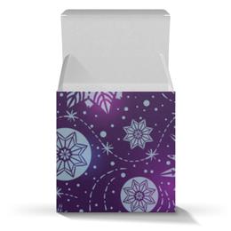 """Коробка для кружек """"Новогодняя"""" - новый год, снежинки"""