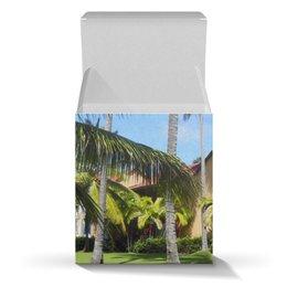 """Коробка для кружек """"""""Доминикана. Тропический сад"""""""" - лето, путешествия, travel, пальмы, доминикана"""