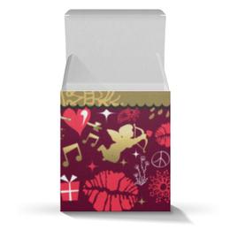 """Подарочная коробка-куб """"Валентинка"""" - сердце, любовь, губы, валентинка"""