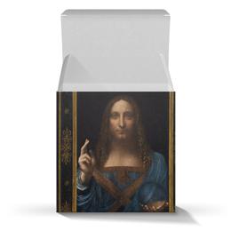 """Коробка для кружек """"Спаситель мира Леонардо да Винчи"""" - арт, картина, живопись, леонардо да винчи, спаситель мира"""