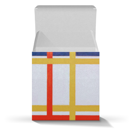 "Подарочная коробка-куб ""Нью-Йорк 1 (Питер Мондриан)"" - картина, живопись, мондриан"
