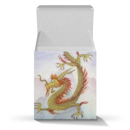 """Подарочная коробка-куб """"Новогодний Дракоша"""" - новый год, дракон, улыбка, восток, япония"""
