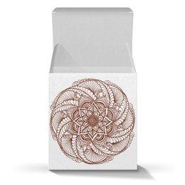 """Коробка для кружек """"Цветок мандала (подарочная упаковка)"""" - узор, подарок, мандала, индийский, мехенди"""