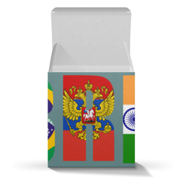 "Коробка для кружек ""BRICS - БРИКС"" - россия, китай, индия, бразилия, юар"