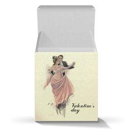"""Коробка для кружек """"Вальс влюбленных"""" - любовь, день святого валентина, 14 февраля, винтаж, день влюбленных"""