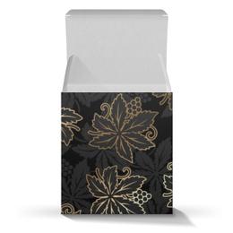 """Подарочная коробка-куб """"Листья"""" - природа, листья"""