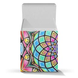 "Коробка для кружек ""Mandala HD2"" - узор, ретро, классика, этно, симметрия"