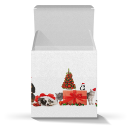 """Коробка для кружек """"Новогодняя банда"""" - арт, новый год, стиль, рисунок, 2018"""