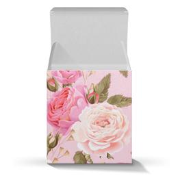 """Подарочная коробка-куб """"Цветы"""" - цветы, розы"""