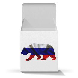 "Коробка для кружек ""Русский Медведь"" - bear, медведь, русский, флаг, russian"