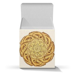 """Коробка для кружек """"Золотая мандала (для упаковки подарка)"""" - орнамент, подарок, этнический, индийский, мехенди"""