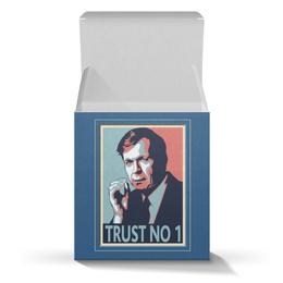 """Коробка для кружек """"Никому не доверяй"""" - сериал, секретные материалы, курильщик"""