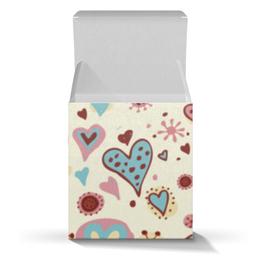 "Коробка для кружек ""Сердца"" - сердца, день св валентина"